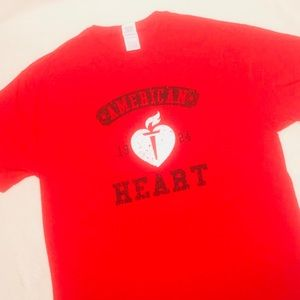 Go Red for Women unisex awareness t shirt CHARITY